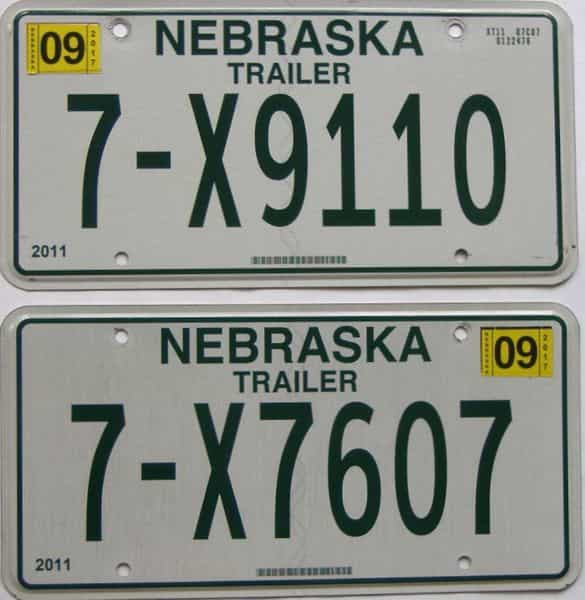 2017 NE (Trailer) license plate for sale
