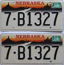 1999 Nebraska (Pair) license plate for sale