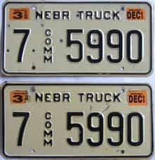 1993 Nebraska (Truck) license plate for sale