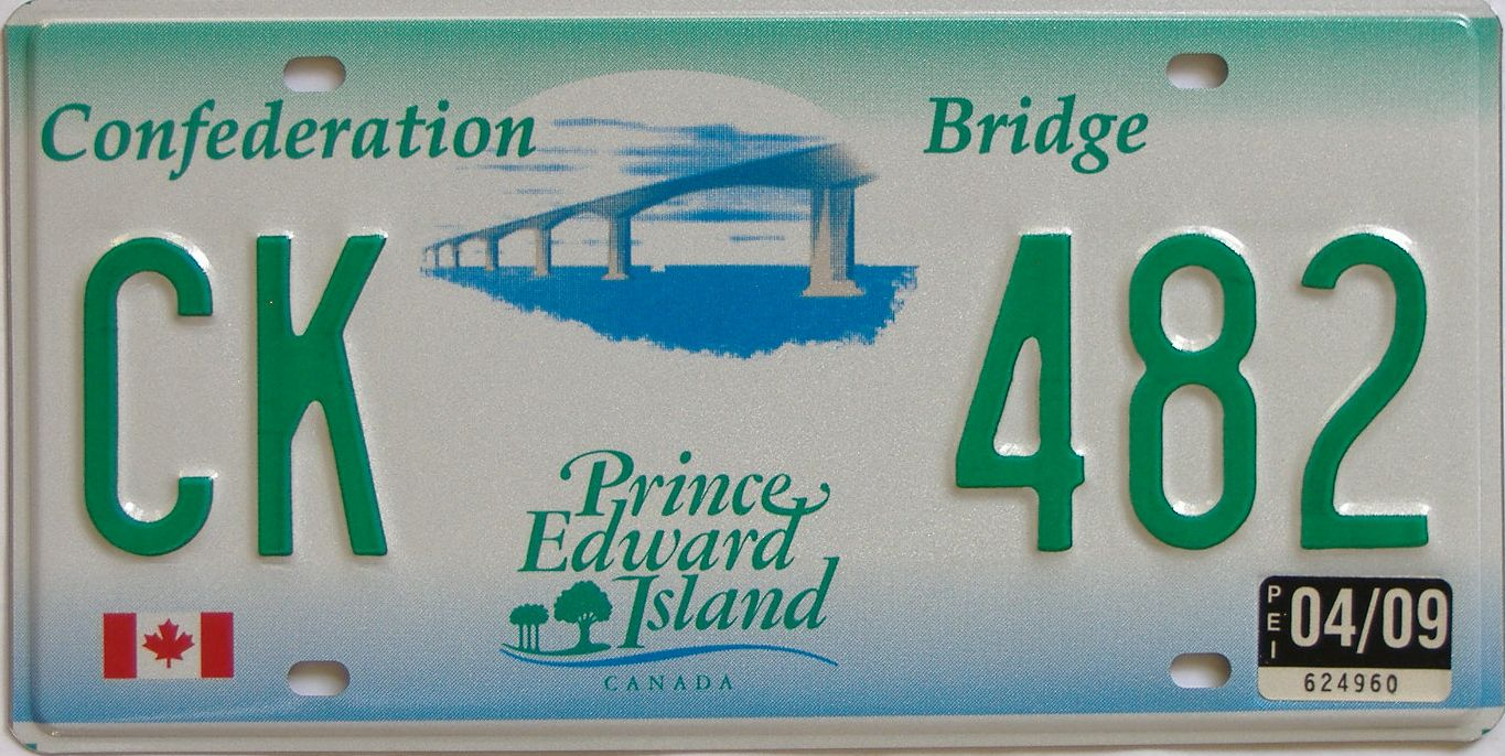 2009 CANADA (PEI) license plate for sale
