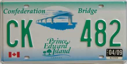 2009 PEI (Single) license plate for sale