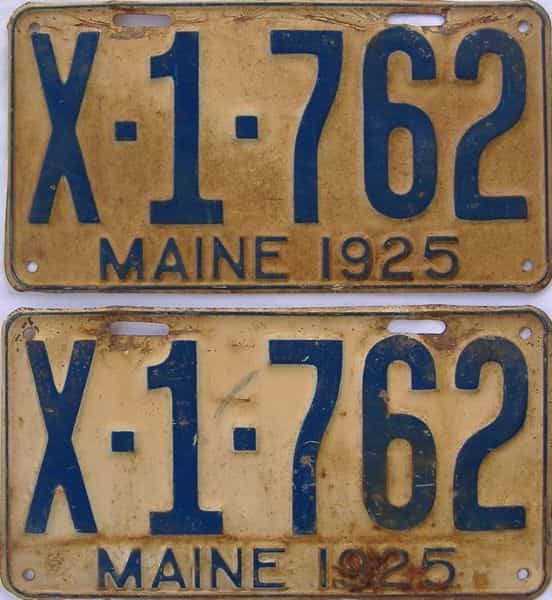 1925 Maine (Truck) license plate for sale