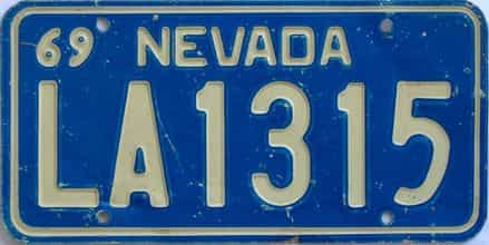 1969 Nevada license plate for sale