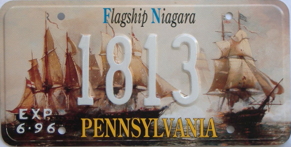 1996 PA (Sample) license plate for sale