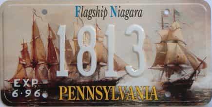 1996 Pennsylvania (Sample) license plate for sale