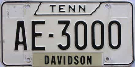 1966 Tennessee (Relettered) license plate for sale
