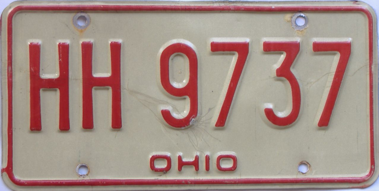 1976 Ohio (Single) license plate for sale