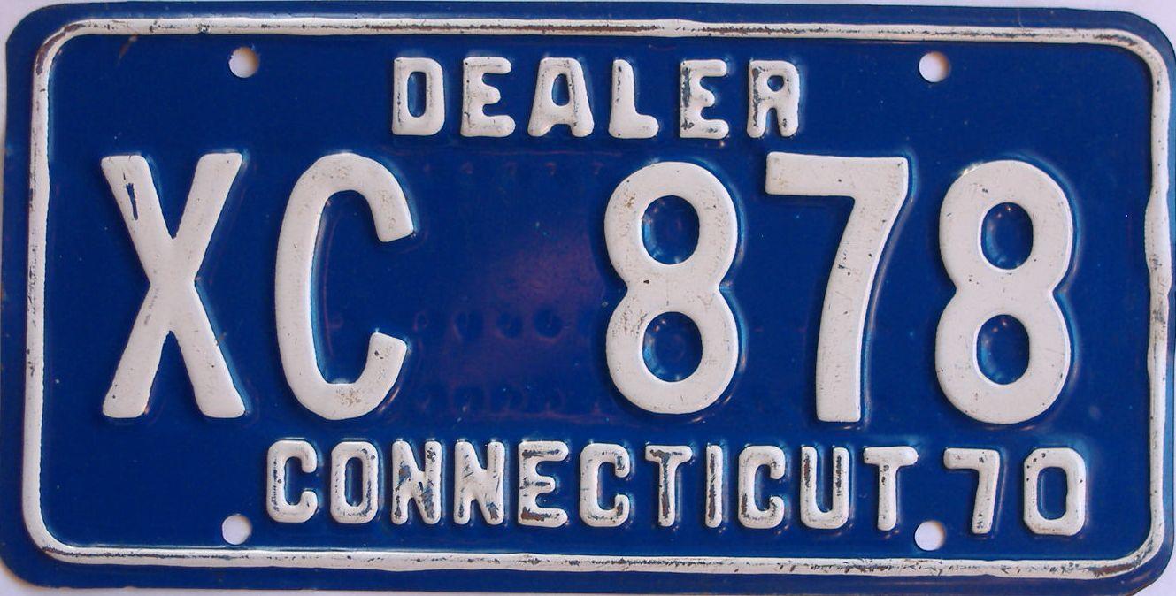 1970 Connecticut (Dealer) license plate for sale