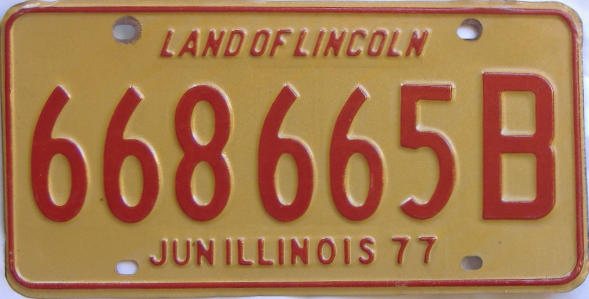 1977 Illinois (Truck) license plate for sale