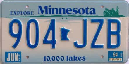 1994 Minnesota (Single) license plate for sale