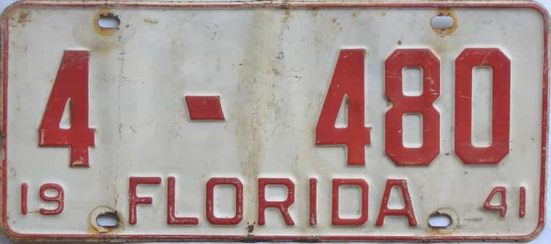 1941 Florida license plate for sale