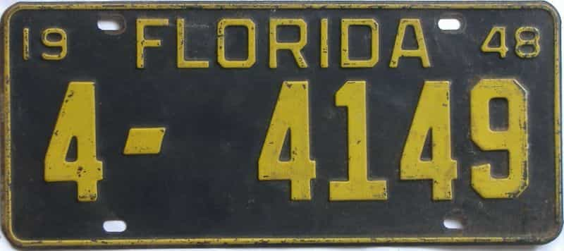 1948 Florida license plate for sale
