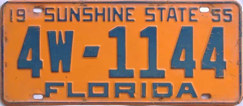 1955 FL license plate for sale