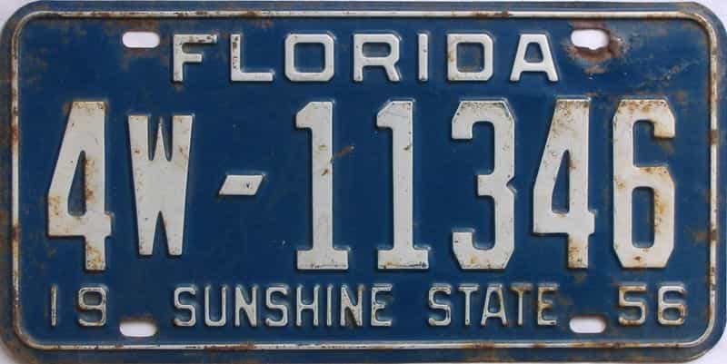 1956 FL license plate for sale