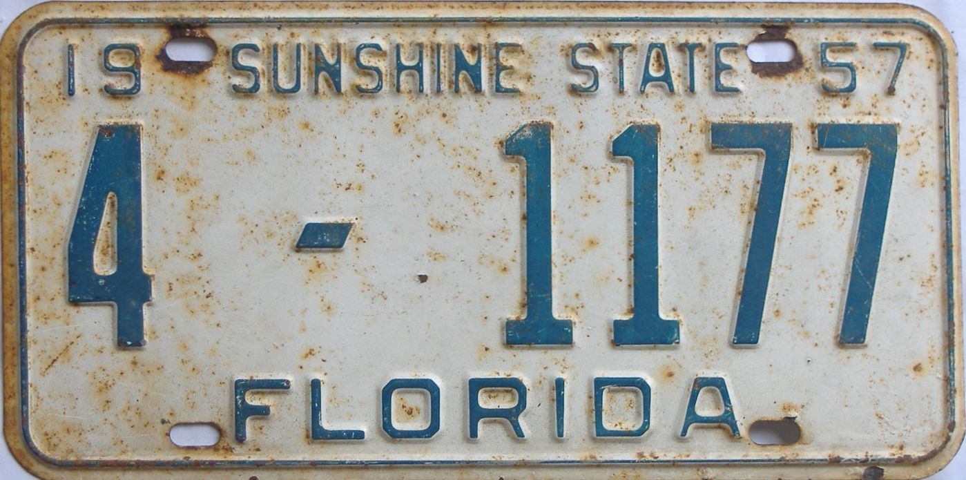 1957 Florida license plate for sale