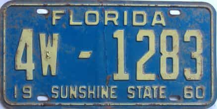 1960 Florida License Plate  sc 1 st  Florida License Plates for Sale - The Tag Dr. Store & Florida License Plates for Sale - The Tag Dr. Store