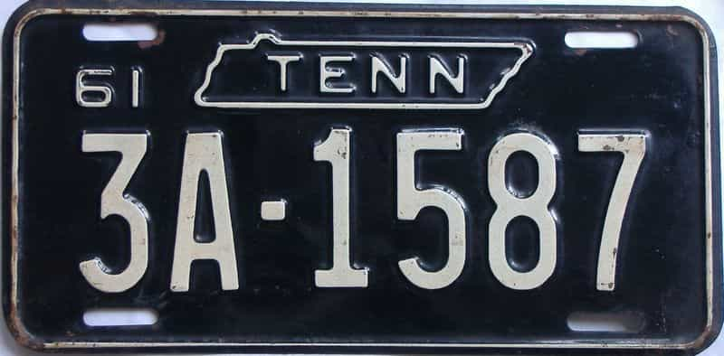 1961 TN (Single) license plate for sale