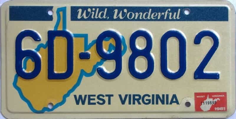 YOM 1981 WV (Natural) license plate for sale