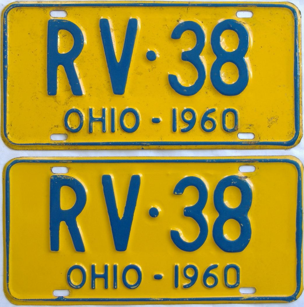 1960 Ohio (Pair) license plate for sale