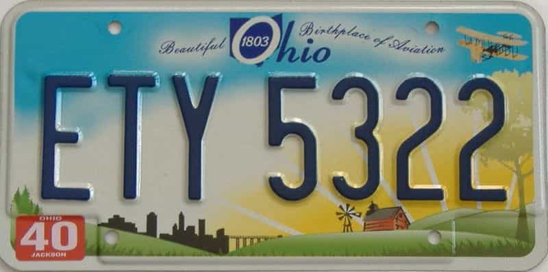 OH (Single) license plate for sale