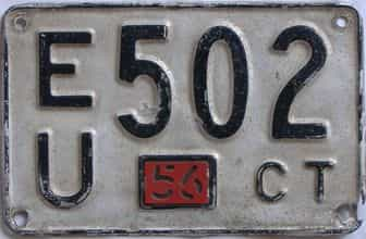 1956 Connecticut (Single) license plate for sale