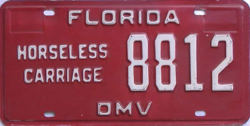 1982 Florida license plate for sale