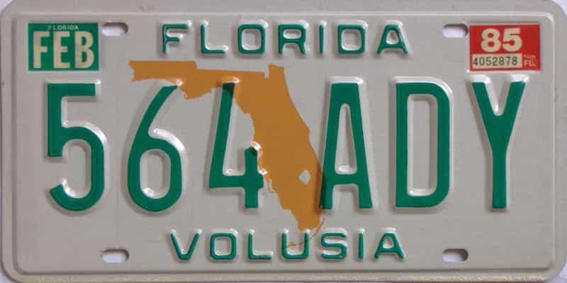 1985 FL license plate for sale