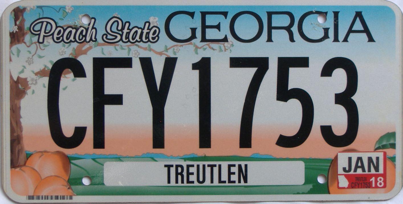 2018 GA (Natural) license plate for sale
