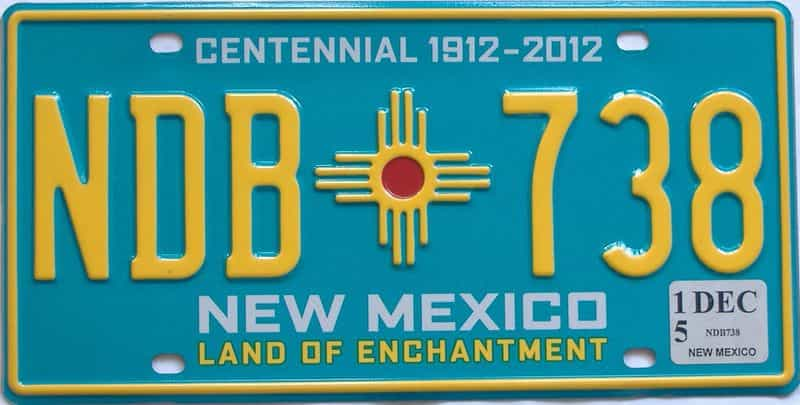 2015 NM (Natural) license plate for sale
