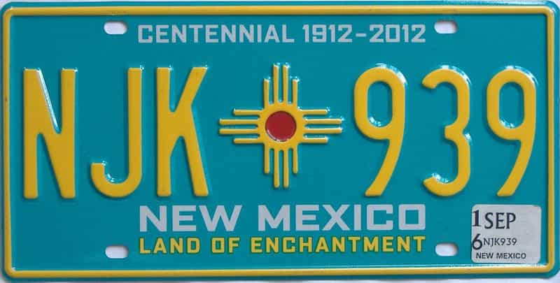 2016 NM (Natural) license plate for sale