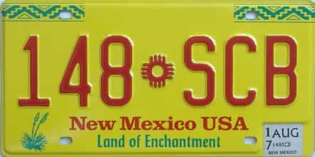 2017 New Mexico (Natural) license plate for sale