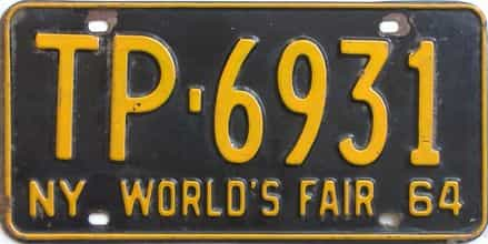 1964 New York license plate for sale