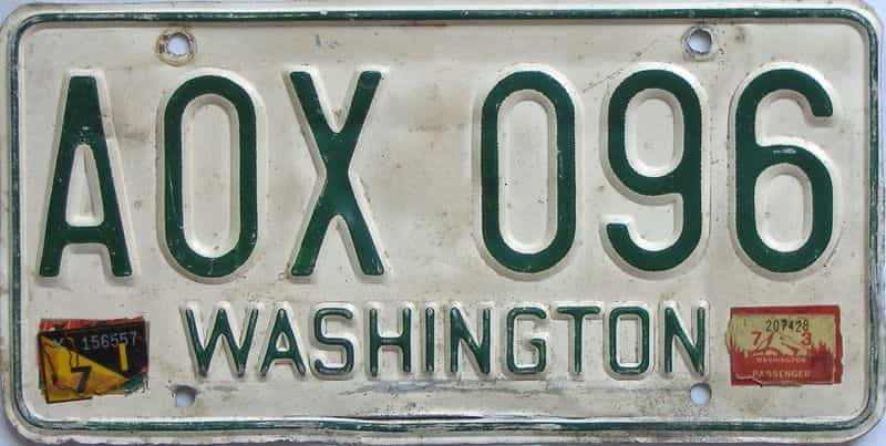 1973 Washington (Single) license plate for sale