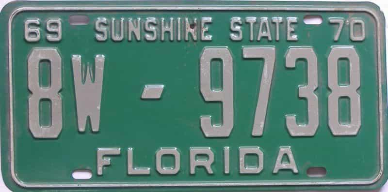 1969 FL license plate for sale