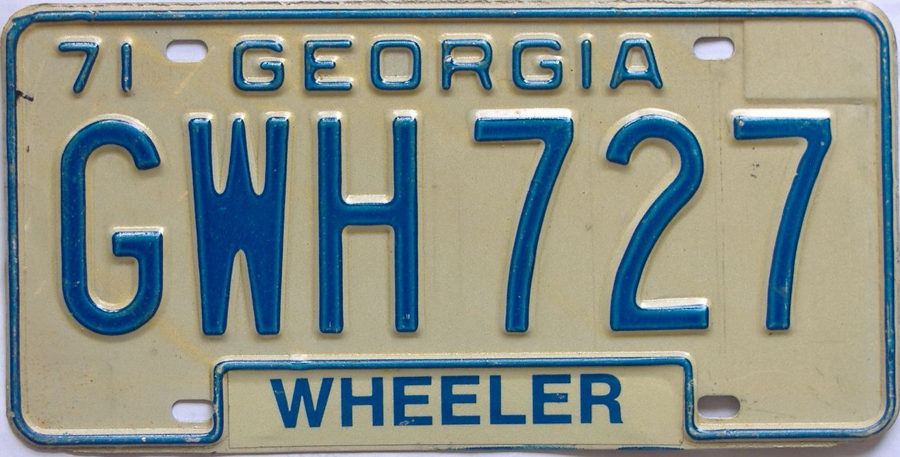 1971 Georgia license plate for sale