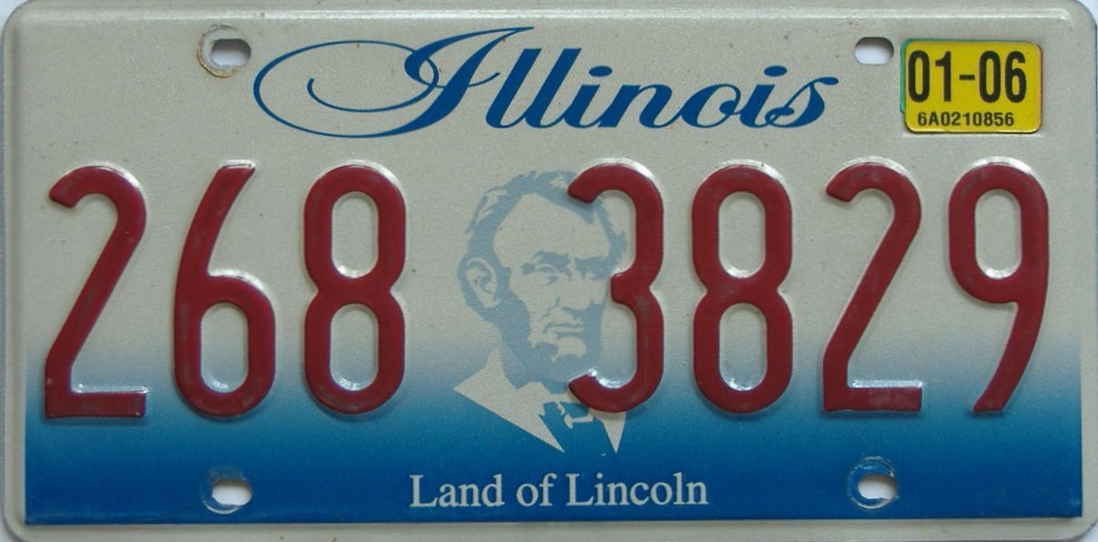 2006 Illinois (Single) license plate for sale