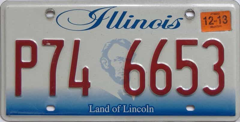 2013 Illinois (Single) license plate for sale