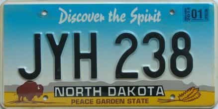 2014 North Dakota (Natural Single) license plate for sale