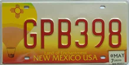 2007 New Mexico (Natural) license plate for sale