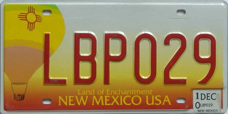 2010 New Mexico (Natural) license plate for sale