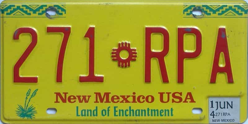 2014 New Mexico (Natural) license plate for sale