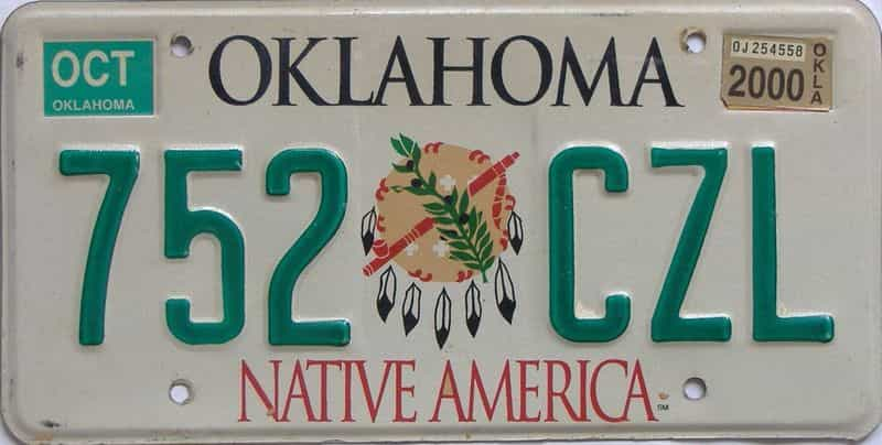 2000 OK license plate for sale