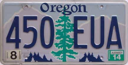 2014 Oregon (Natural Single) license plate for sale