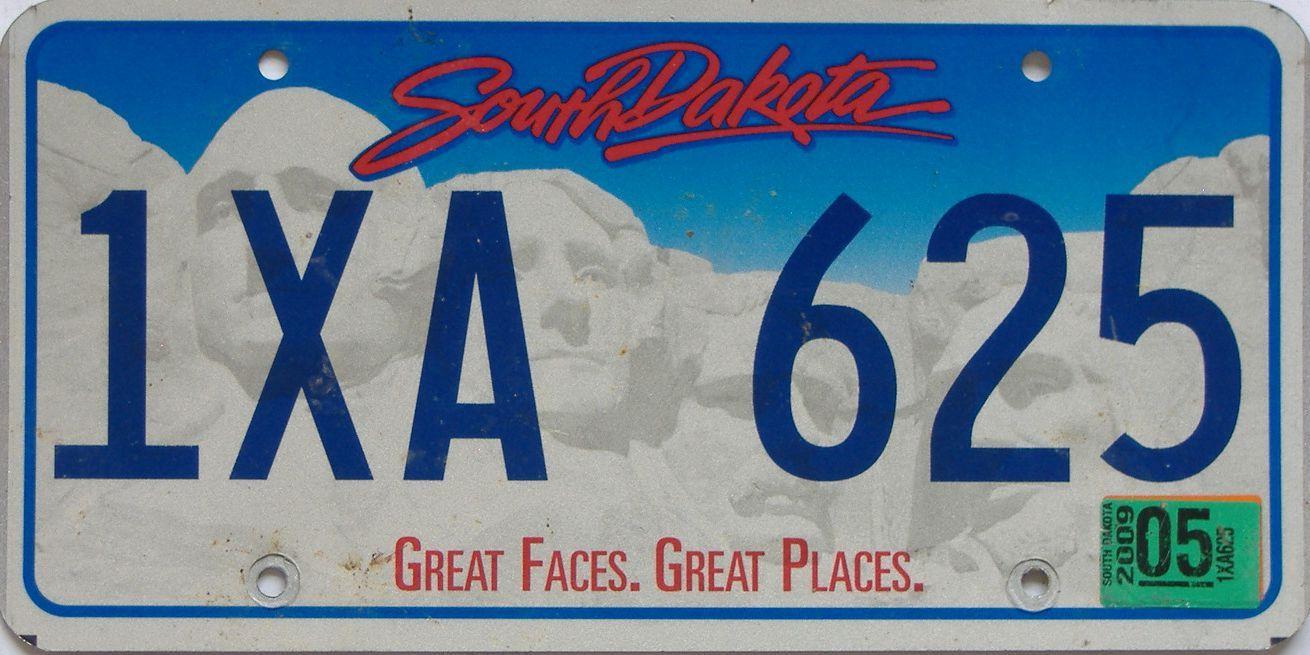 2009 South Dakota (Single) license plate for sale