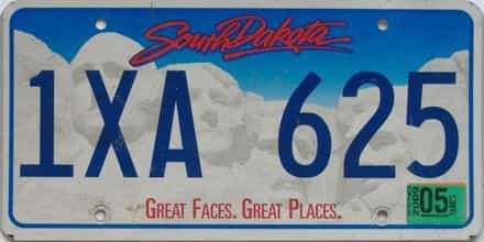 2009 South Dakota (Single) license plate for sale