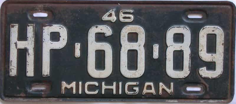1946 Michigan license plate for sale