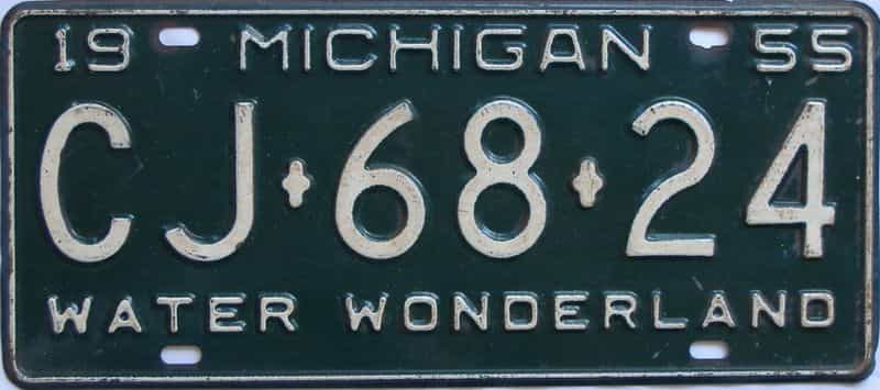 1955 MI license plate for sale