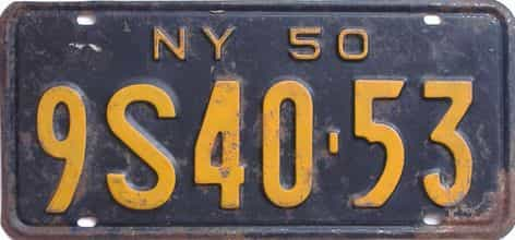 1950 New York license plate for sale