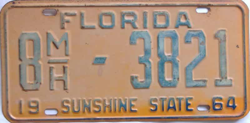 1964 FL license plate for sale