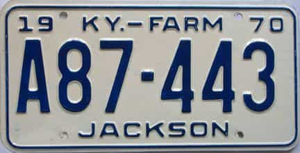 1970 Kentucky (Farm) license plate for sale